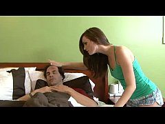 Cute Brunette Teen Love Older Man.