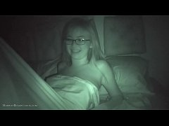 Cute busty asian teen ex gf  home at night
