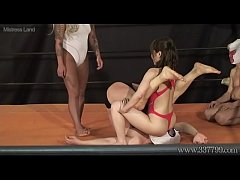 Japanese Femdom Two Women Humiliate a Man with a Fight