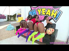 ANA FOXXX, CHANELL HEART AND SKYLER NICOLE LET THE SPEW AND SPITTLE FLY