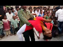 Indian girl hot recording dance at village
