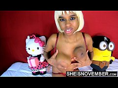 Huge Ebony Nipple Massive Areola Giant Rack On Petite Hot Innocent Girl Msnovember Shaking Sagging Udders Fast , Big Curvy Bomb Shells With Soft Skin Titty Jiggling On Bosom CloseUp On Beautiful Body  4k Sheisnovember