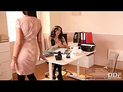 Lesbian Milfs Darce Lee & Alyssia Kent get wet and horny at the office