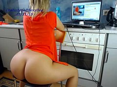 babe sexydea flashing ass on live webcam