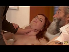 DADDY4K. Cutie receives good punishment from boyfriend and old dad