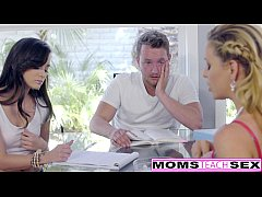 HD Hot Step-Mom Cherie Deville Seduces Daughters BF