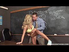 busty blonde Mckenzee Miles getting fucked by the school dean
