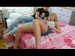 Blondy lolita gets her cunt licked before a hardcore pussy fucking