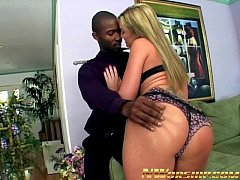 hot blonde slutty teen anal interracial threesome with big black cocks
