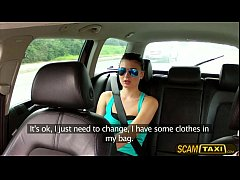 Gorgeous Scarlet gets fucked in the taxi and re...