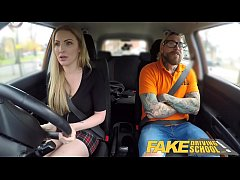 HD Fake Driving School Fake instructors hot car fuck with busty blonde minx