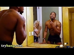 TRYBANG - Petite Elsa Jean Falling In Love With Isiah Maxwell's Big Black Cock, One Inch At A Time