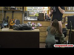 tight brunette drilled by horny pawn guy