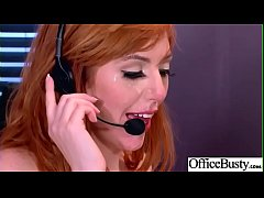 (Lauren Phillips) Round Big Boobs Office Girl Love Hardcore Sex clip-03