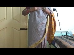 desi  indian tamil telugu kannada malayalam hindi horny cheating wife vanitha wearing grey colour saree  showing big boobs and shaved pussy press hard boobs press nip rubbing pussy masturbation