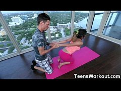 Fit Teen Destroyed by Her Yoga Trainer!