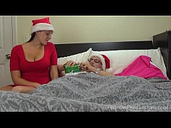 melanie hicks in auntie s christmas gift- milf aunt fucks nephew gets creampie