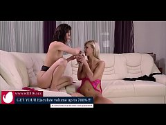 Adorable lesbians piss and have a little bit naughty fun!