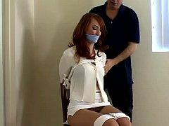 Redhead Kendra James is Bound, Gagged and Groped