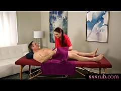 Lovely masseuse screwed by horny client