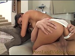 young sexy latina girl with sperm on face