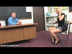 Sweet Blonde Teen Seduces Her Teacher!
