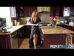 redhead agent fucks over client to overpay for house then fucks him after