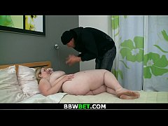 Chubby blonde BBW getting pounded