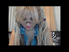 HD Blonde Nerd Does Camshow - Dirtyyycams.com