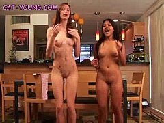 Naked Teens Goofing