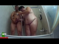 They shower together and she eats his cock. SAN127