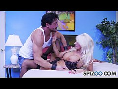 Milf Brittany Andrews is punished by a huge cock, big tits and bubble butt