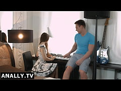 Anally.tv Shy Stefani loves piano and cock in her butt