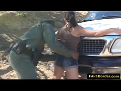 stunning latina babe fucked by border patrol agent