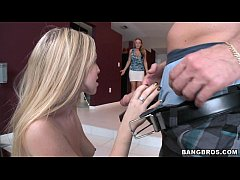 BANGBROS - MILF walks in on her daughter