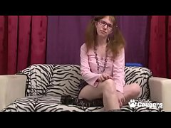 Ugly Teen In Pigtails & Glasses Fucks Her Hairy...