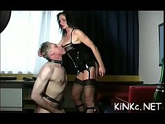 Female-dominant fists slave's booty
