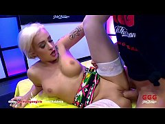 Super hot blonde chick Daisy Lee gets in the bukkake arena for some serious  gangbang action with big dicks and lots of facial cumshots! German Goo Girls