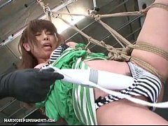 japanese bondage sex  hardcore bdsm punishment of asari