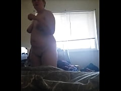 My sexy whore getting out of the shower, shows tits, pussy and ass
