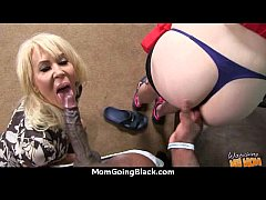 Sexy mom gets a creamy facial after getting pounded by a black dude 17