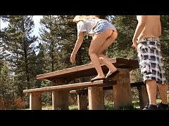 Bangin on a picnic table