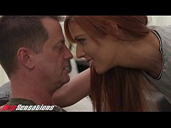 Horny Redhead Hardcore Sex With Daddy