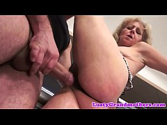 Chubby granny screwed in her hairypussy