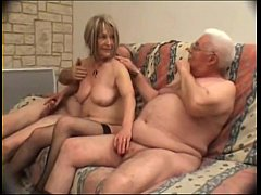 Older French couple cuckolding