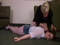 Mother and Daugther gagged and fondled in apartment
