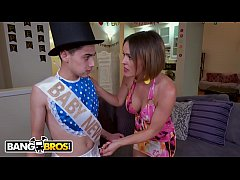 BANGBROS - Baby New Year And Father Time Go Balls Deep In MILF Krissy Lynn For NYE!