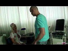 GERMAN FEMALE MILF DOCTOR NADJA HELP PATIENT WITH FUCK