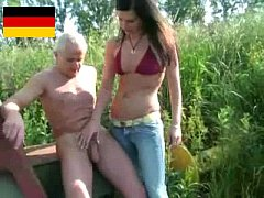 German dominant girl handjob
