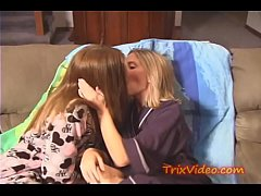 Two Lesbian Friends Having Fun Almost Get Caught